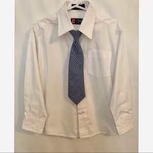 Boys white dress shirt and tie